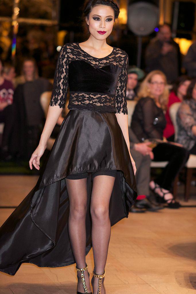 High Low Black Dress