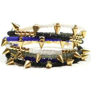 Ciel Gold Spike Bracelet Set