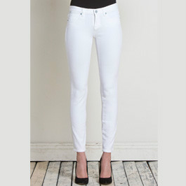 Henry and Belle Ankle Skinny White Denim Product