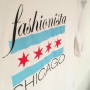 Fashionista Chicago T-Shirt Chicago Flag