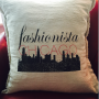 Fashionista Chicago Throw Pillow