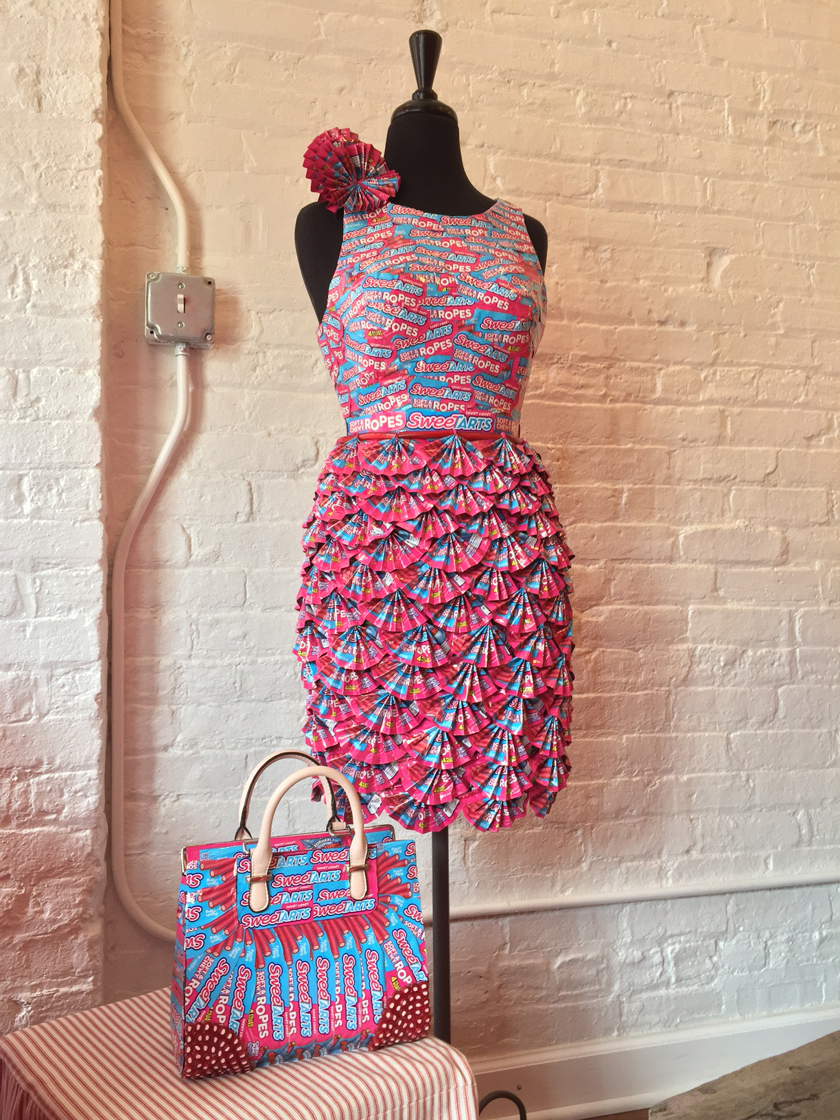 Candyality, Water Tower Place Host Candy Wrapper Dress