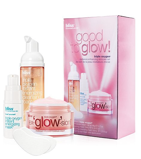 bliss Good To Glow Triple Oxygen Radiance Enhancing Skincare Gift Set