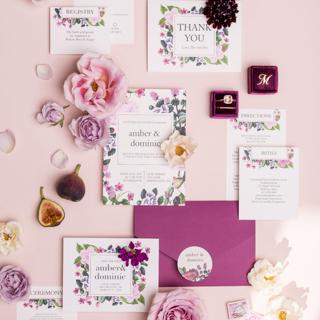 Stylish Online Customizable Wedding Invites